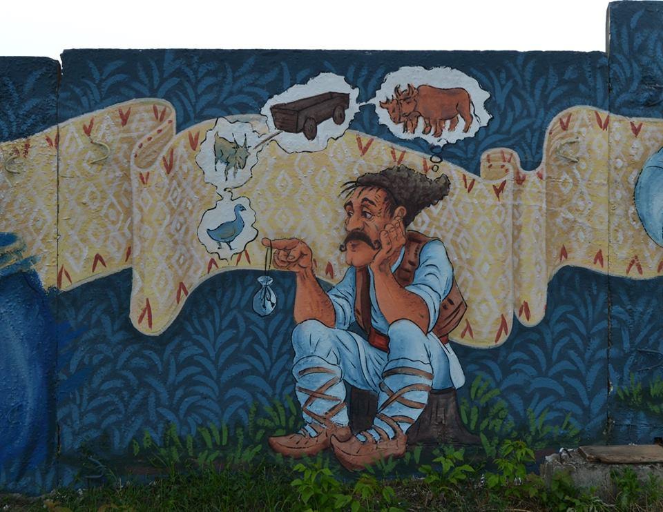 Un Moldovean A Ilustrat Poveștile Lui Ion Creangă Pe Un Gard