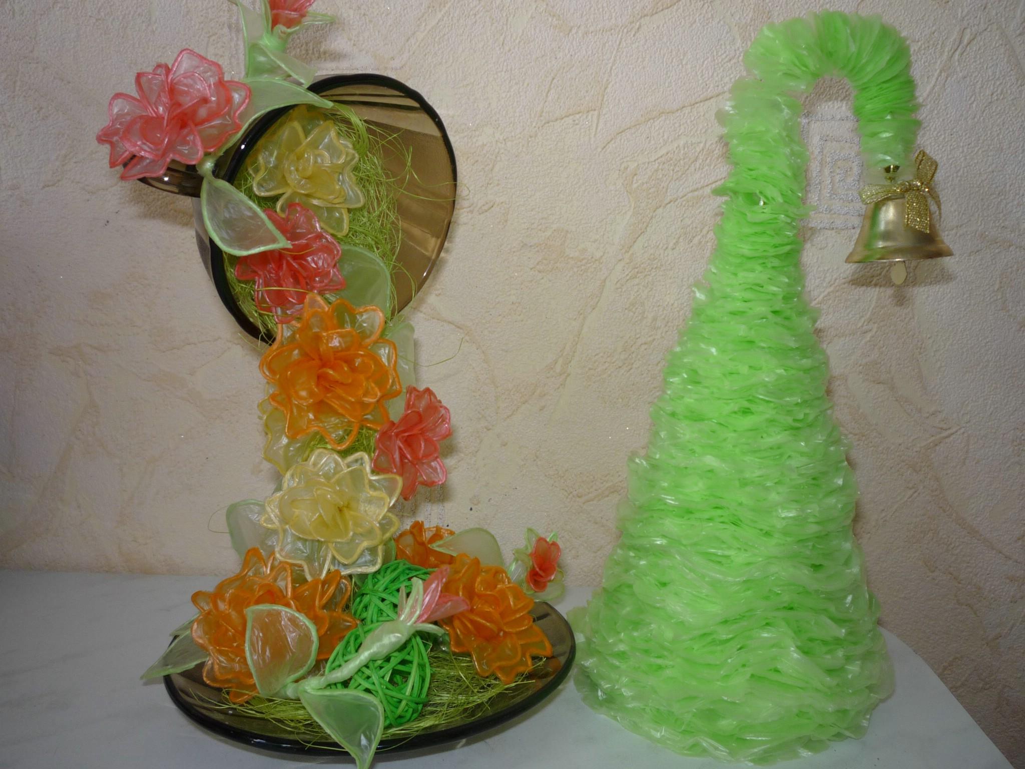 Как сделать из мусора цветок 226