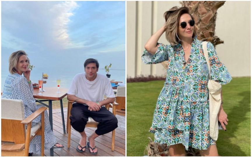 Adela Popescu, noi imagini cu burtica de gravidă în vacanța din Egipt