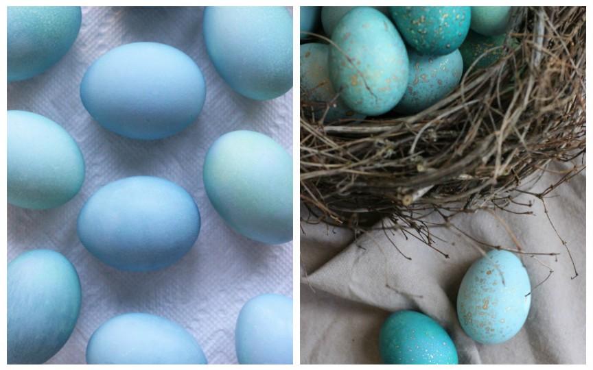 Impresionează-ți invitații la masa pascală cu ouă vopsite absolut natural și inedit