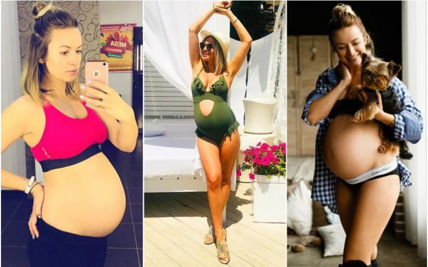 La 39 de săptămâni de sarcină, Elena Ozun nu renunță la sport. Vezi cum se menține în formă!