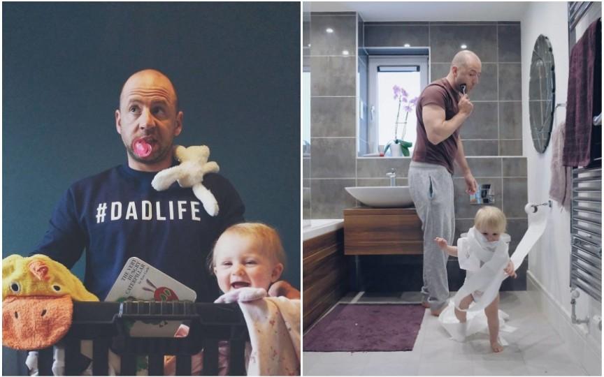 Cum arată gândurile unui tată în imagini