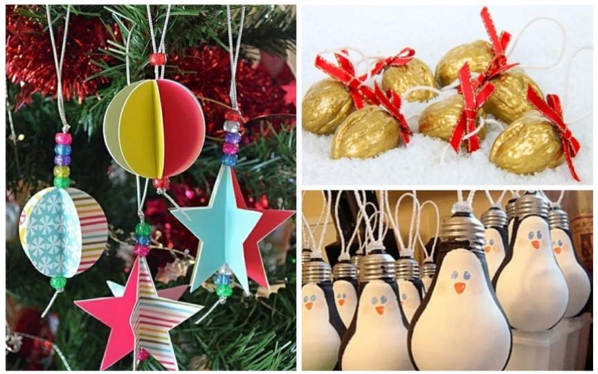 Idei de decorații pentru pomul de Crăciun, pe care le poți face acasă