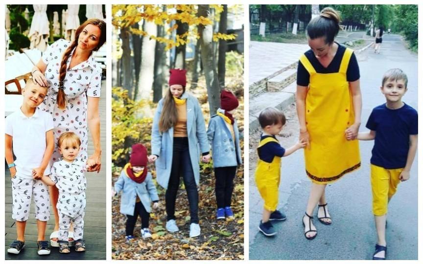 (FOTO) Ținute asortate doar mamă-fiică? O mămică de băieți ne demonstrează contrariul