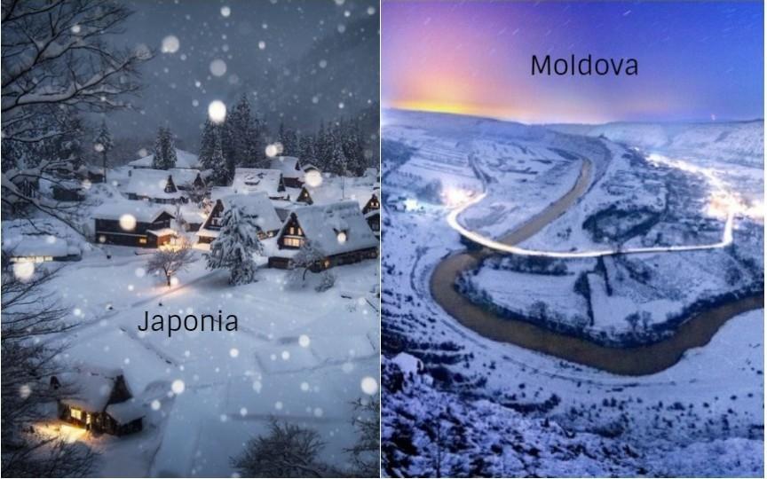 Ce frumoasă e iarna în Japonia! Vezi când se prevăd ninsori și în Moldova
