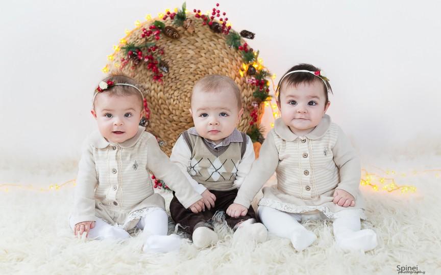 Vor lumină de sărbători… și un brad. Cum va fi primul Crăciun al tripleților Tatianei Ciutac?