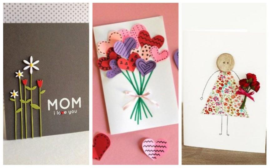 Idei de felicitări handmade pentru mame, pe care le puteți face cu picii