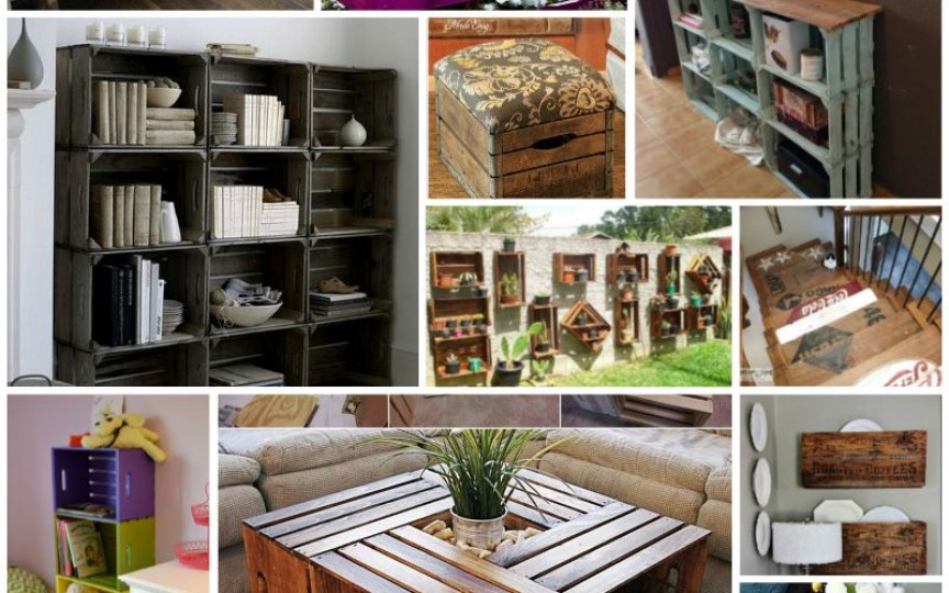 Idei pentru reciclarea lăzilor de lemn