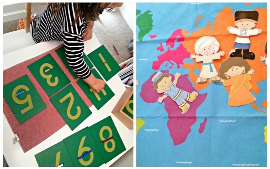 4 activități Montessori pentru copiii de 3-5 ani