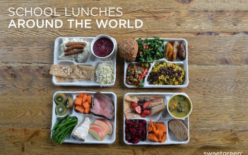 (FOTO) Iată ce primesc copiii la mesele lor școlare în diferite țări