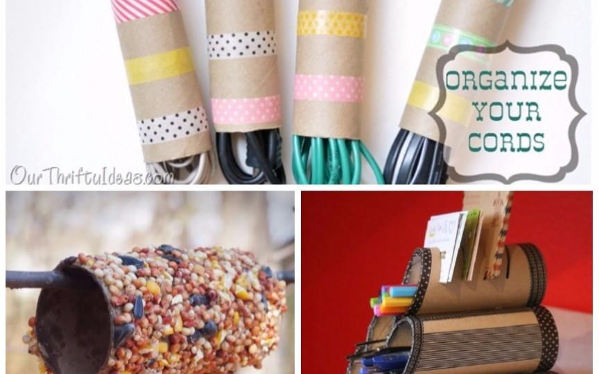 Tuburile de carton pot deveni jucării și obiecte de birou