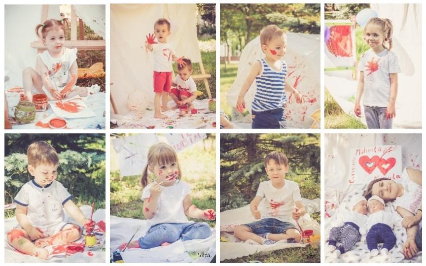 (Foto) Vezi cum arată copilăria în culori a zeci de mămici cu gemeni din Moldova