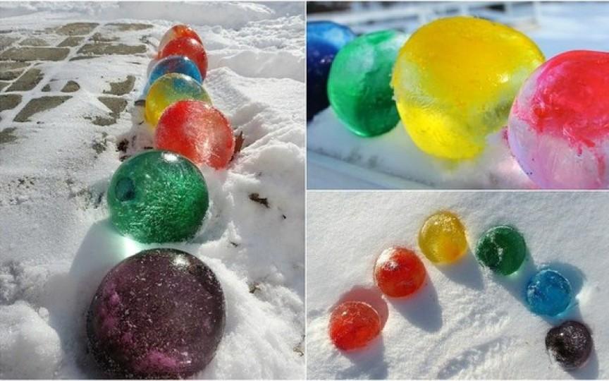 Cum să faci bile colorate de gheață