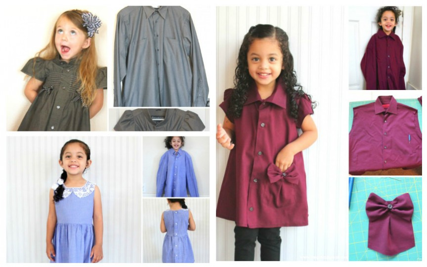 Transformă cămășile vechi în rochițe de vară pentru fetiță