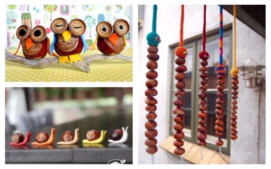 Figurine și decor din castane - idei pentru copii și părinți