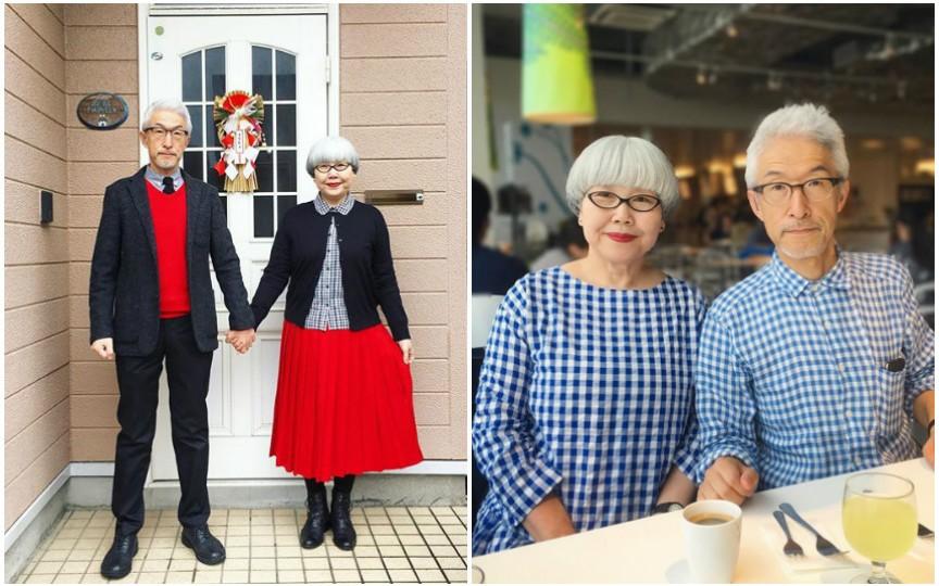 Un cuplu din Japonia își asortează ținutele de mai bine de 37 de ani