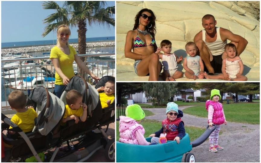 Cum sa călătoreşti cu mai mulți copii! Sfaturi de la trei familii cu tripleţi
