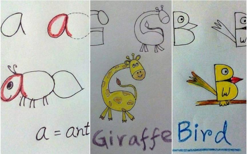 Învață alfabetul și limba engleză cu ajutorul desenelor