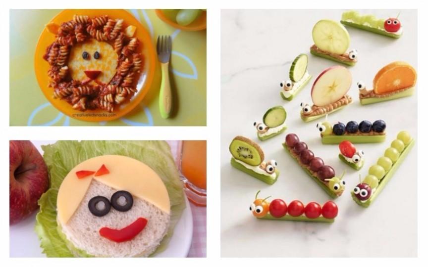 Idei cum să aranjezi original mâncarea pe farfuria copilului