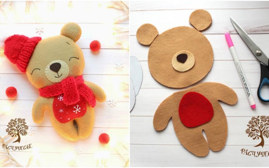 IDEE: Cum să faci un ursuleț de Crăciun pas cu pas