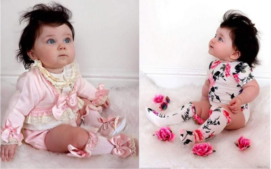 O fetiță de numai 8 luni este vedetă, fotomodel și deja dependentă de coafor