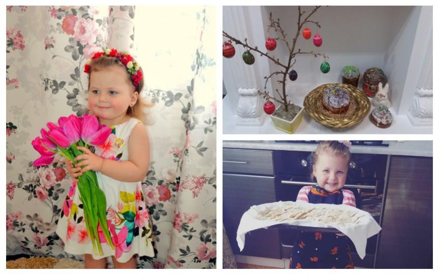 (VIDEO) Gabriela, mica gospodină de nici 4 ani din Moldova, gătește cozonacul de Paști