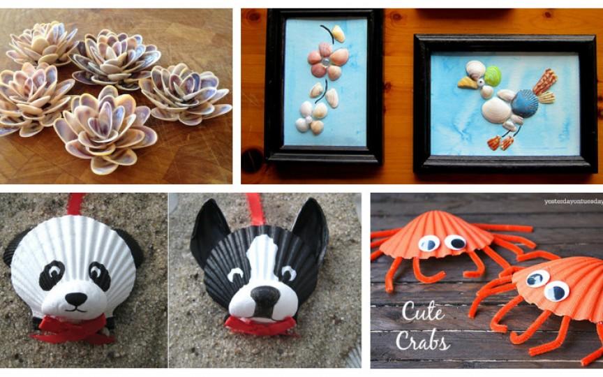Idei creative - creăm obiecte de decor cu ajutorul scoicilor