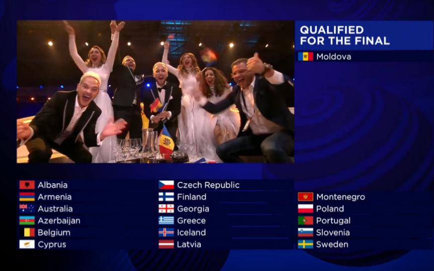 Moldova a acces în finala Eurovision. Nu uitați să-i susțineți pe ai noștri pe 13 mai!