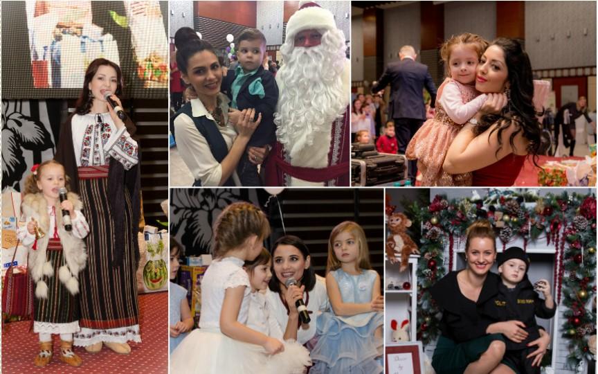 Mai multe vedete au participat împreună cu copiii lor la un carnaval de Crăciun