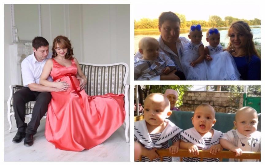 Cuplul Golovatinschi - după ce au născut tripleți, acum sunt în așteptarea celui de-al patrulea copil