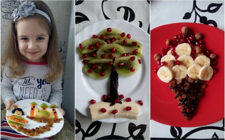 Magie în farfurie: Aşa îşi convinge fiica să mănânce fructe!