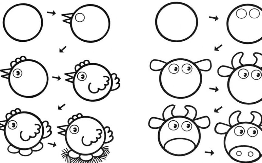 Învățăm să desenăm cu ajutorul cercurilor