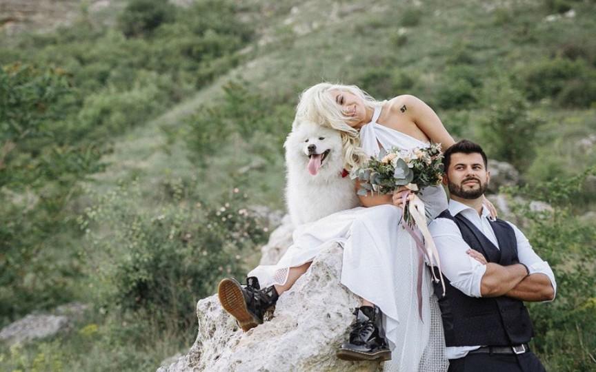 (FOTO) Daniela Burlac a mai trăit o dată rolul de mireasă la câteva săptămâni după nuntă! Fotograful e de vină!