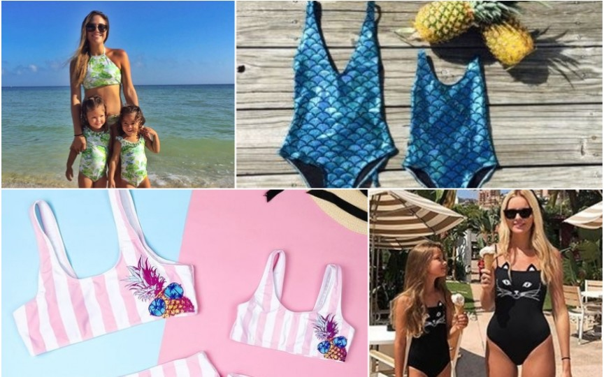 Costume de baie pentru mamă-fiică la modă în această vară