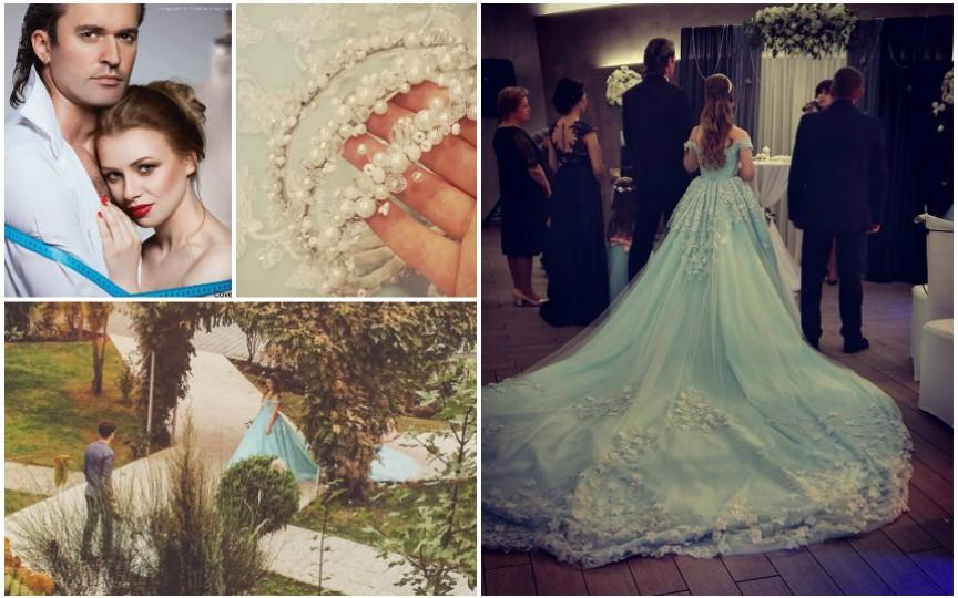 Designer la propria nuntă: Și-a cusut o rochie din 100 m de stofă!