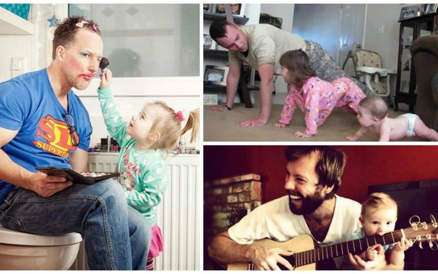 Ce fac tații atunci când rămân singuri cu copiii