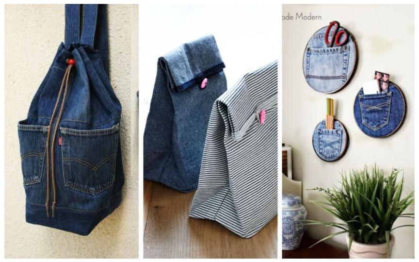 (FOTO) Refolosește blugii vechi și creează lucruri utile din ei