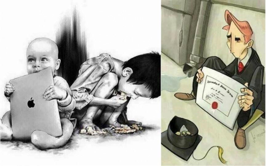 Imagini dure care arată perfect realitatea zilelor noastre