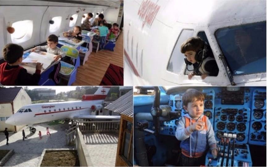 Iată cum arată grădinița deschisă într-un avion