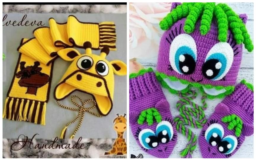 (FOTO) Idei creative de seturi de iarnă croșetate pentru copilași