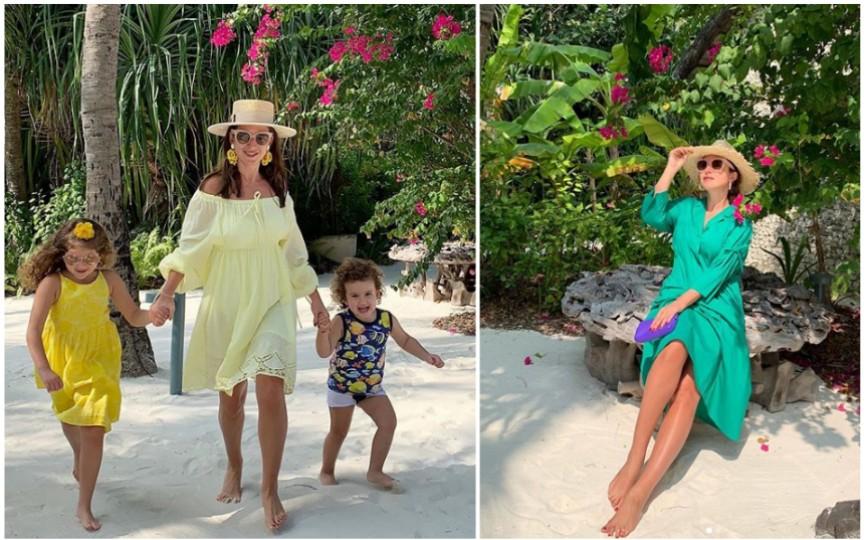 (FOTO) Jasmin, din nou în vacanță alături de copii pe o insulă exotică