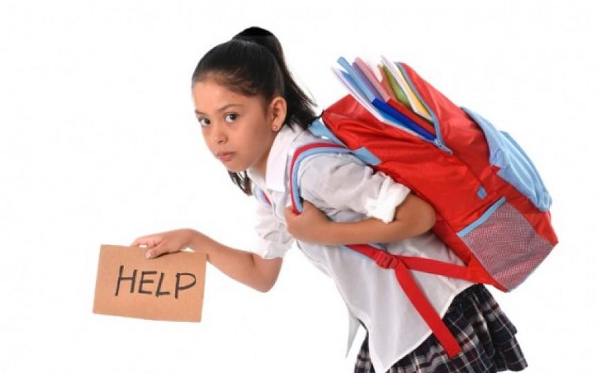 Experiment: Câte cărți poate duce în spate un elev de clasa I?