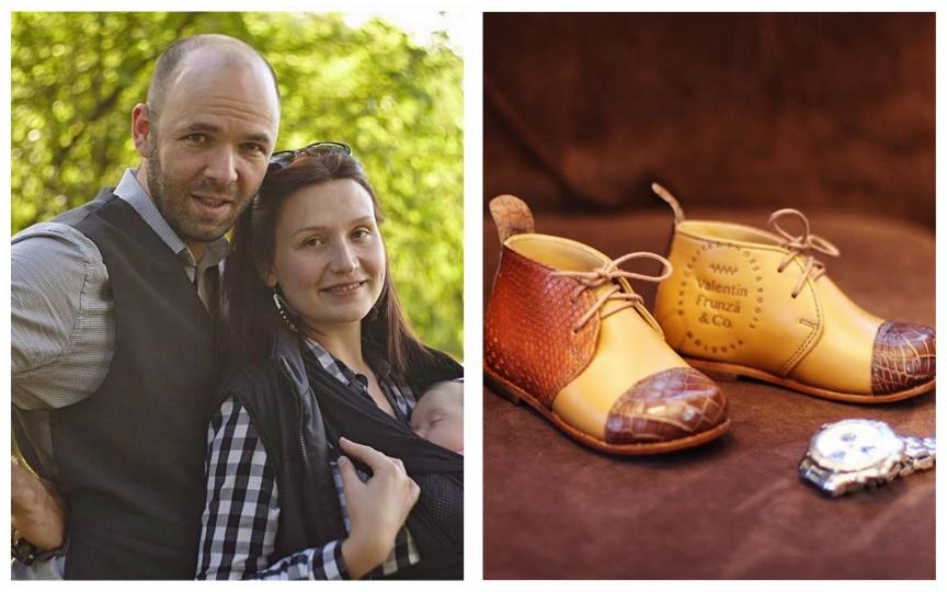 Valentin Frunză face pantofi în exclusivitate pentru fiica sa!