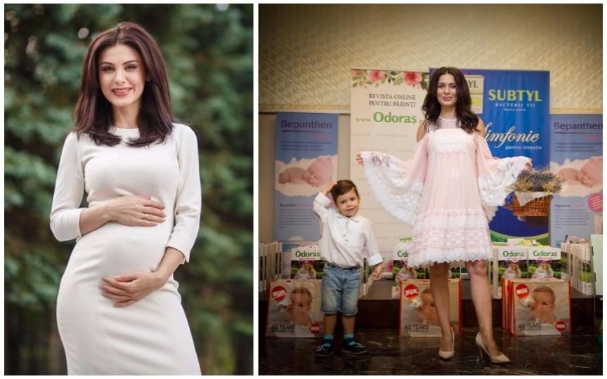 În cea de-a 7-a lună de sarcină, Vera Terentiev-Furtună defilează în calitatea de model