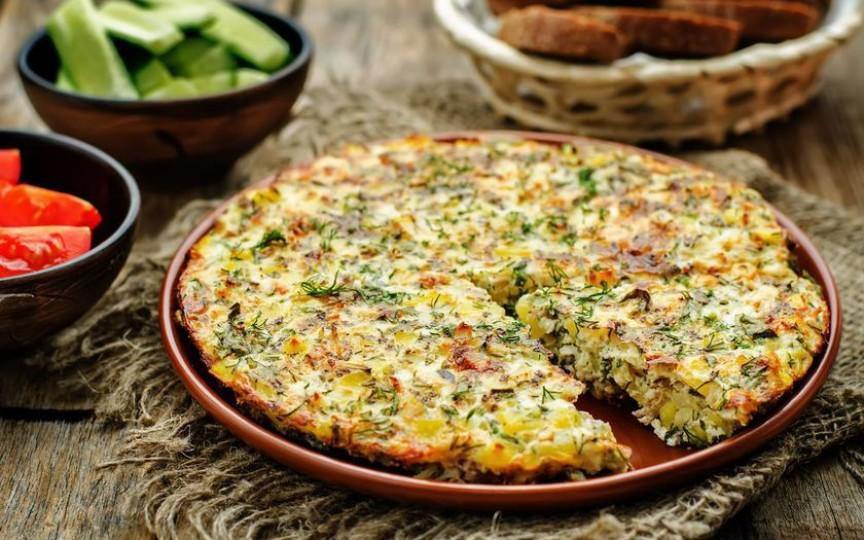Tortilla cu verdeţuri – se gătește ușor și e super gustoasă