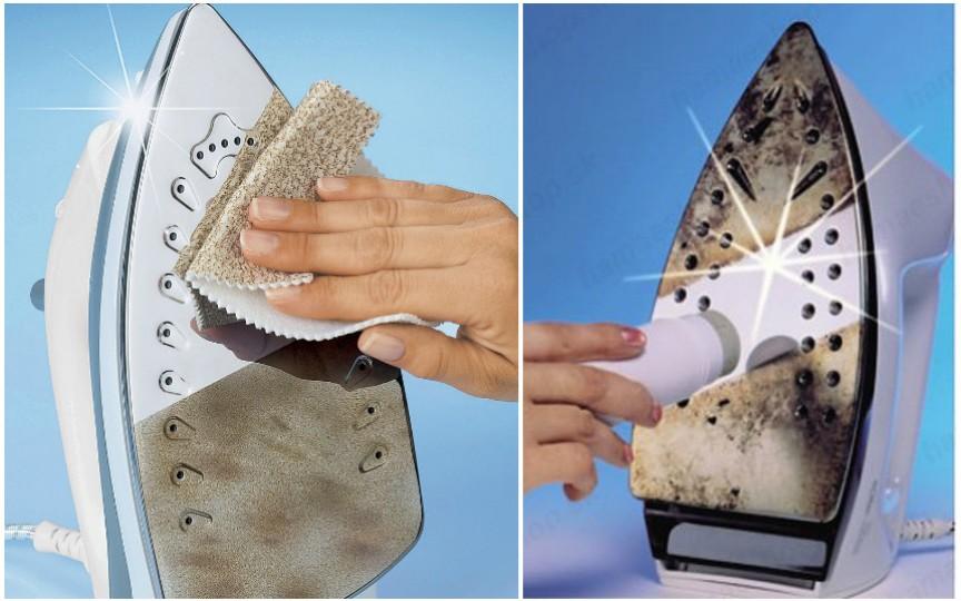 10 modalități eficiente pentru a curăța fierul de călcat de arsuri