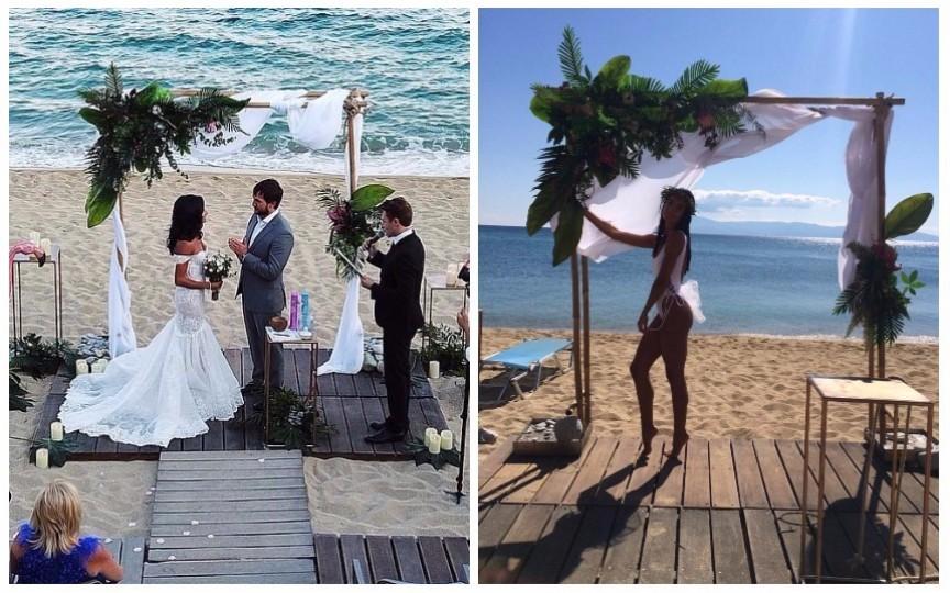 (FOTO) Prezentatoarea Inesa Voscoboinic și-a jucat nunta în Grecia