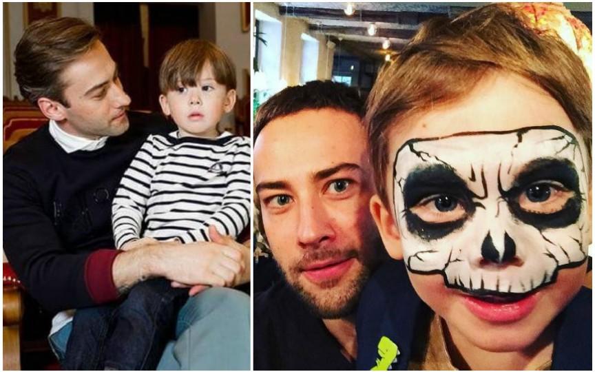 FOTO: Fiul Jannei Friske își petrece vacanța de iarnă alături de tatăl său
