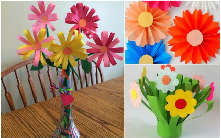 Meșterește flori din hârtie împreună cu copilul tău