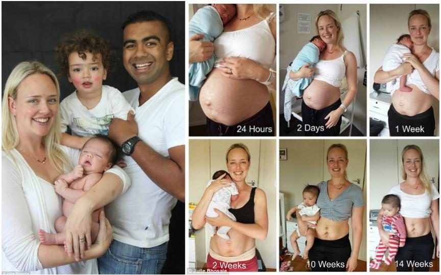 Mesajul emoționant al unei mămici: Nici o femeie nu arată perfect după naștere!